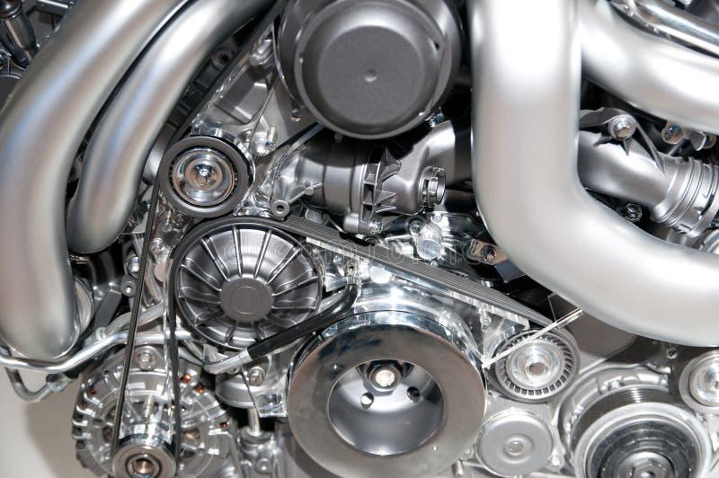 Motor novo do carro fotografia de stock