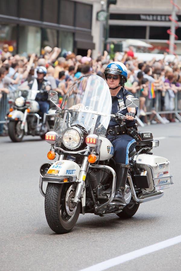 Motor NYPD royalty-vrije stock foto's