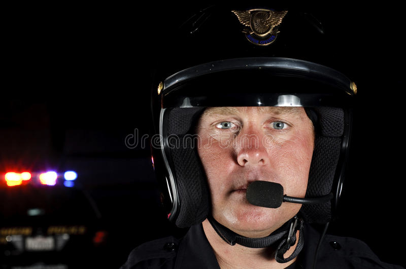 Download Motor officer stock image. Image of night, first, safety - 20983279