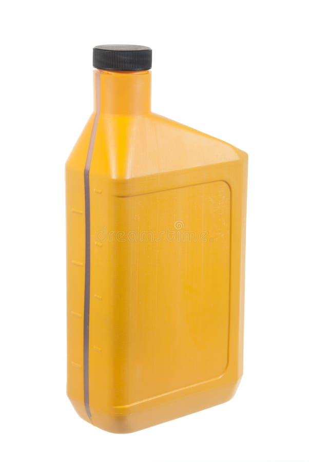 Motor oil. A single motor oil bottle isolated on white royalty free stock images