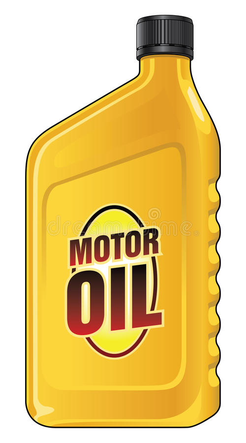 Motor Oil Quart. Is an illustration of a yellow quart size motor oil container stock illustration