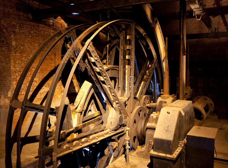 Motor para el elevador de un eje de mina foto de archivo libre de regalías