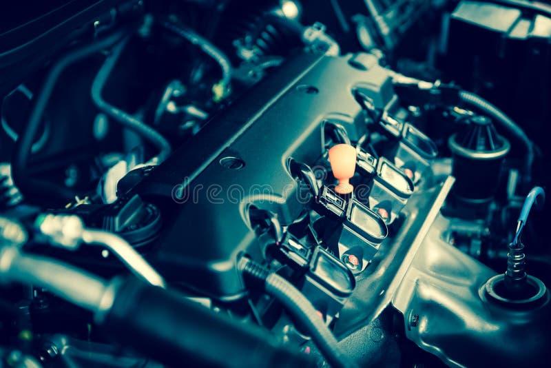 Motor poderoso de um carro Projeto interno do motor foto de stock royalty free