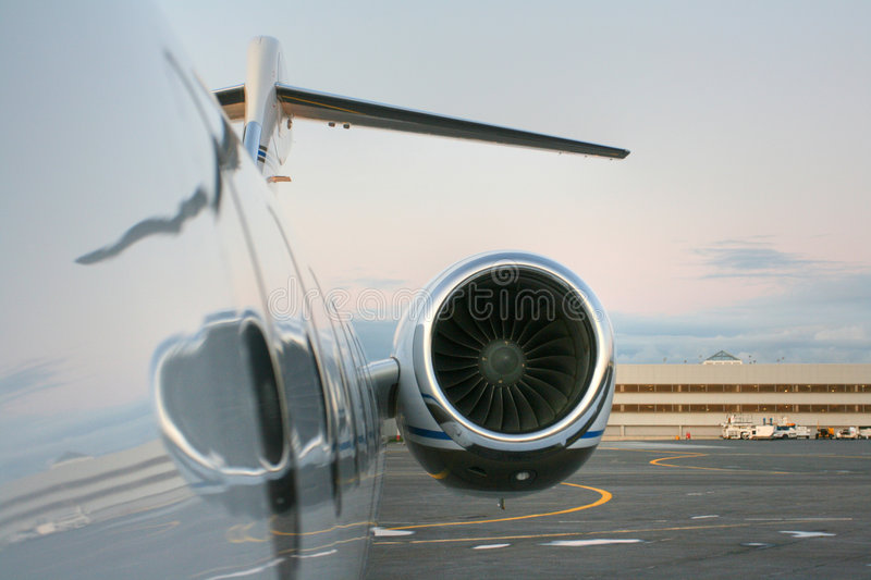 Download Motor of private jet stock image. Image of machine, executive - 7019045