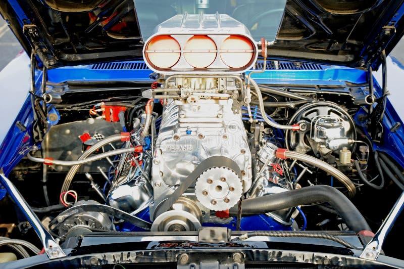 Motor que compite con soplado fotografía de archivo libre de regalías