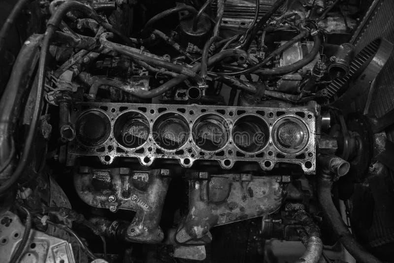Motor que está sendo reconstruído fotografia de stock royalty free