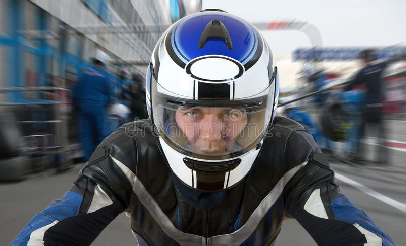 Motor racer stock images