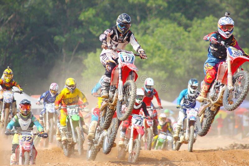 Motor racers stock image