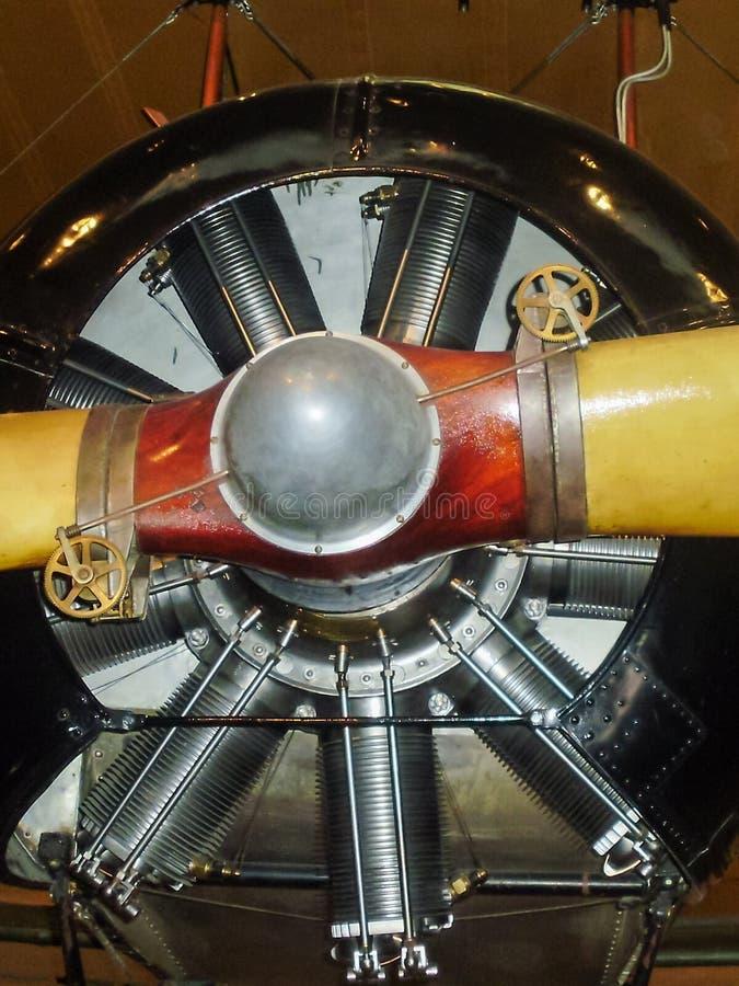 Motor radial de un aeroplano del vintage imágenes de archivo libres de regalías
