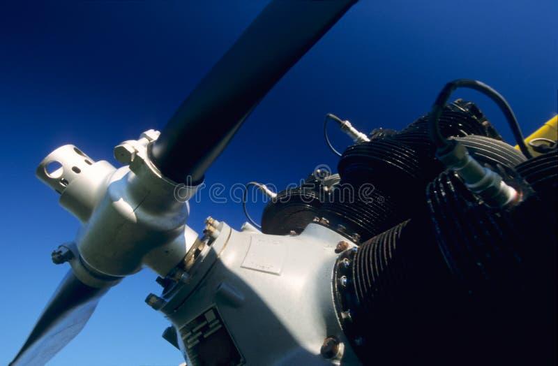 Motor radial do biplano Boeing Stearman fotografia de stock