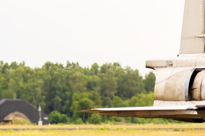 Motor a reacción de un avión de combate fotografía de archivo libre de regalías