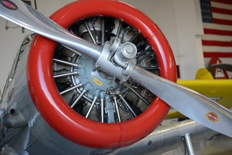 Motor redondo de los aviones fotos de archivo