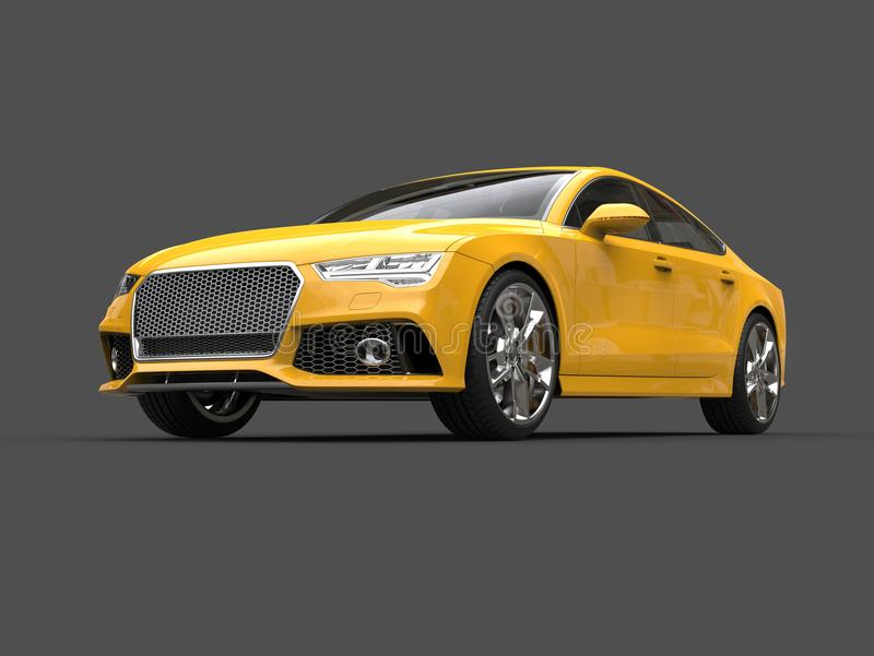 Motor- Schönheitsschuß des hellen gelben modernen Geschäfts vektor abbildung