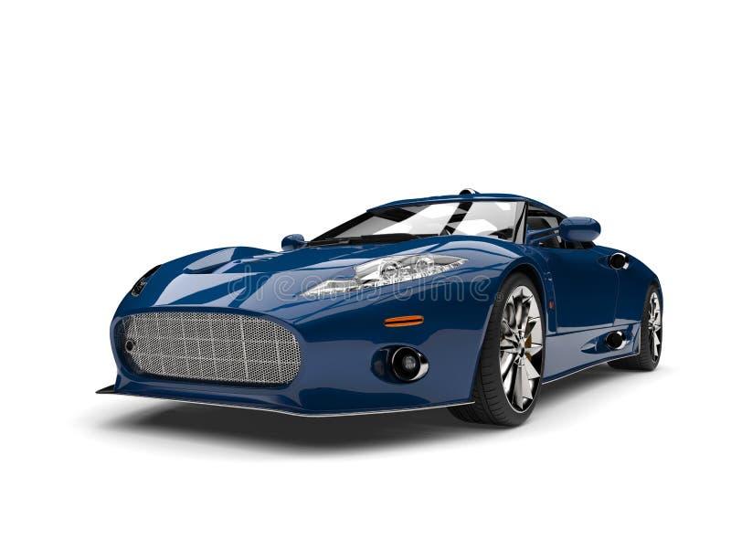 Motor- Schönheitsschuß des Kadmiumblauen Supersports stock abbildung
