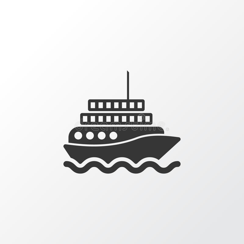 Motor Ship Icon Symbol. Premium Quality Isolated Yacht Element In ...