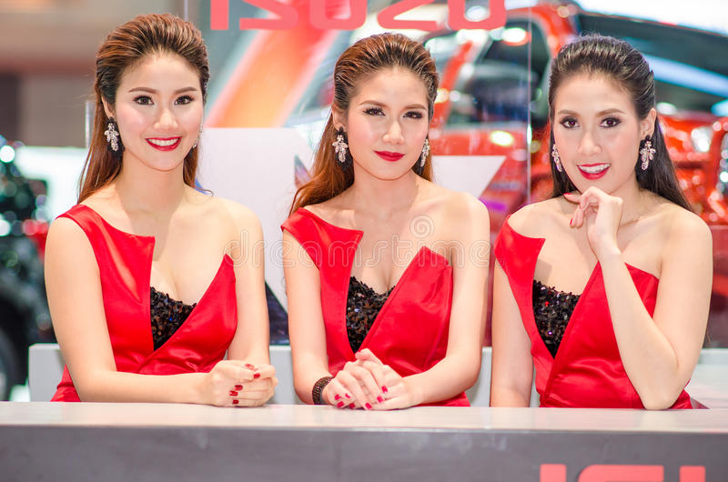 MOTOR SHOW 2015 IN THAILAND royalty free stock photos