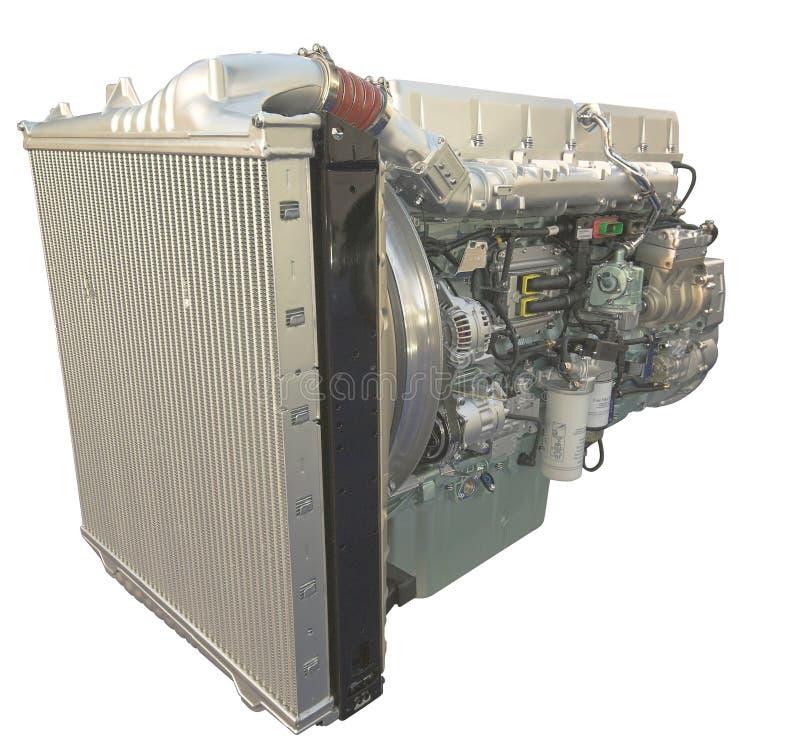 motor som isoleras över lastbilwhite royaltyfri bild