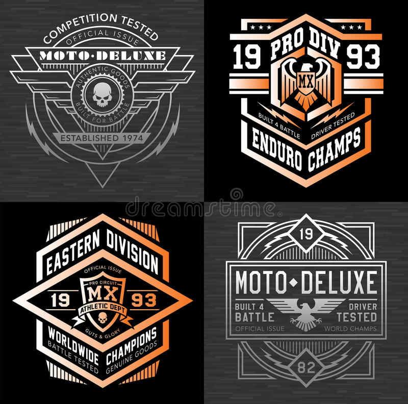 Free Motor Sport Emblem T-shirt Graphics Royalty Free Stock Images - 69524309