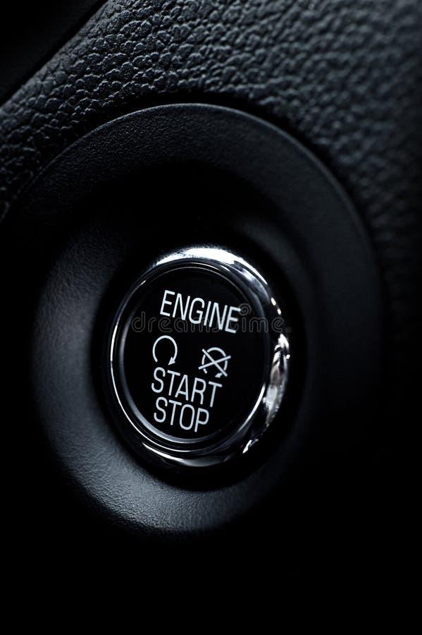 Motor-Startknopf lizenzfreies stockfoto