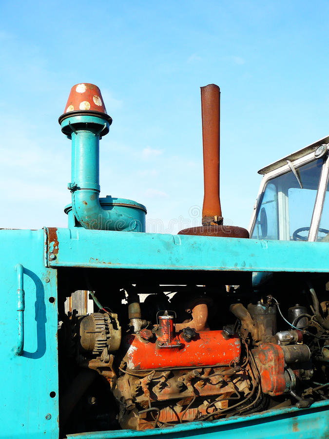 Motor from a tractor. Photo of the motor of the engine from a tractor royalty free stock photos