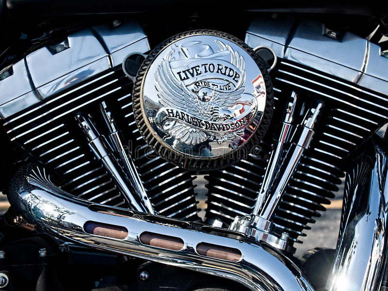 motor V-gêmeo da motocicleta fotos de stock