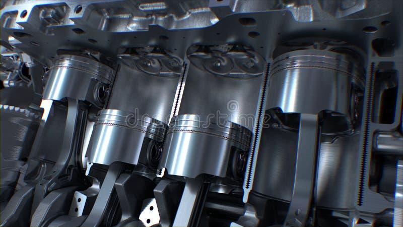 Motor van een auto binnen royalty-vrije stock afbeelding