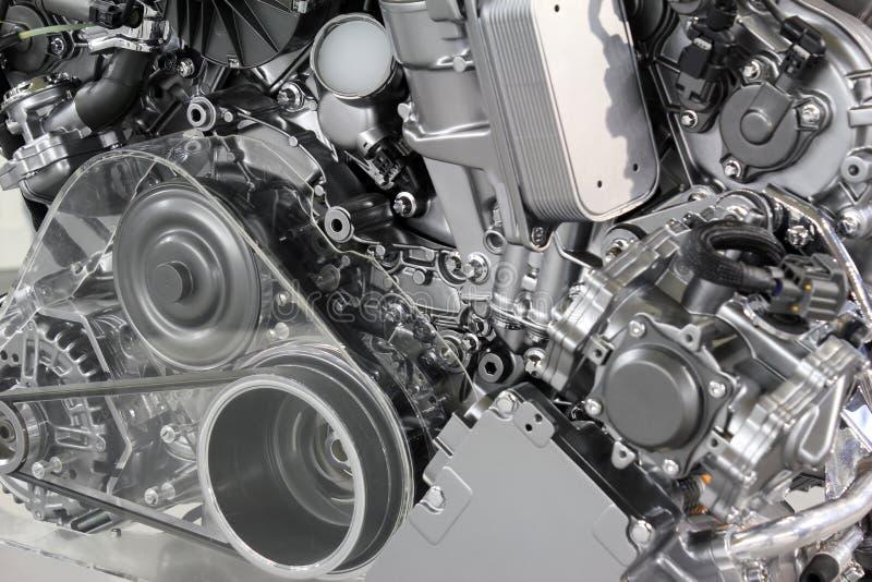 Motor van een auto nieuwe technologie stock foto's