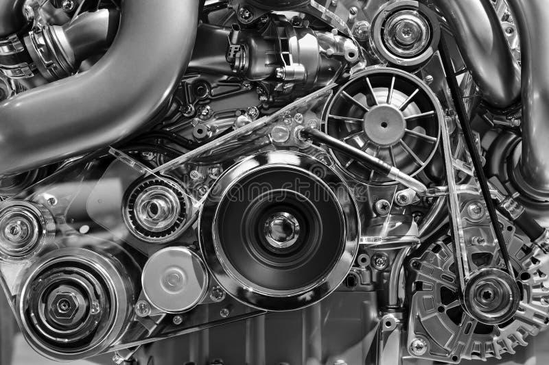 Motor van een autoconcept stock afbeeldingen