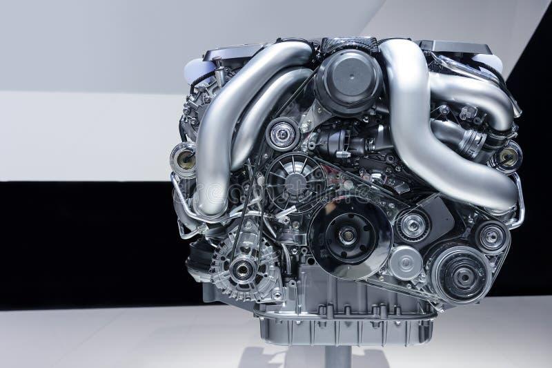 Motor van een autoconcept stock afbeelding