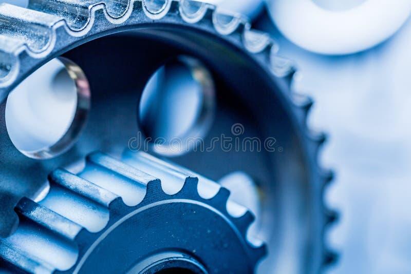 Motor van een autodeel - sluit omhoog beeld van intern royalty-vrije stock foto's