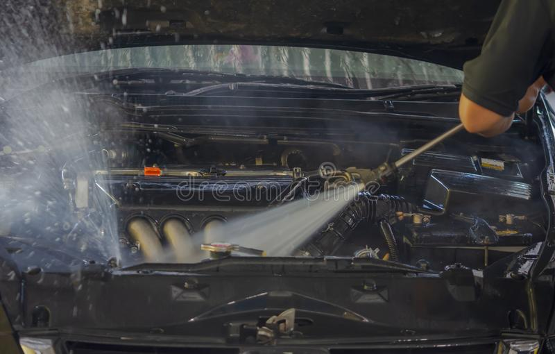 Motor van een autowas royalty-vrije stock foto