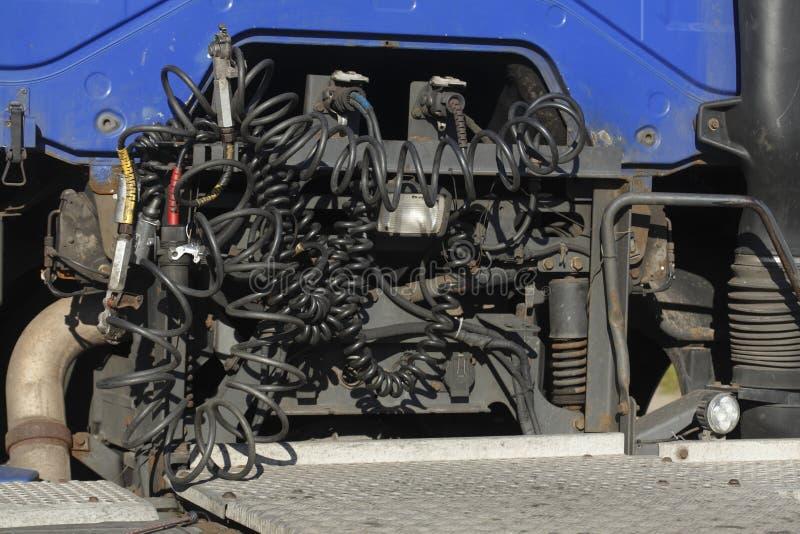 Motor van een vrachtwagen royalty-vrije stock foto
