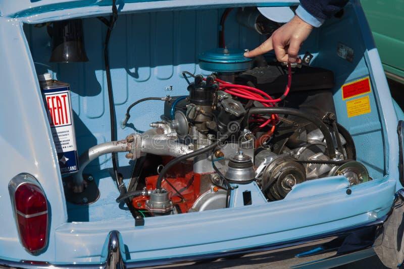 Motor van Seat 600 stock afbeelding