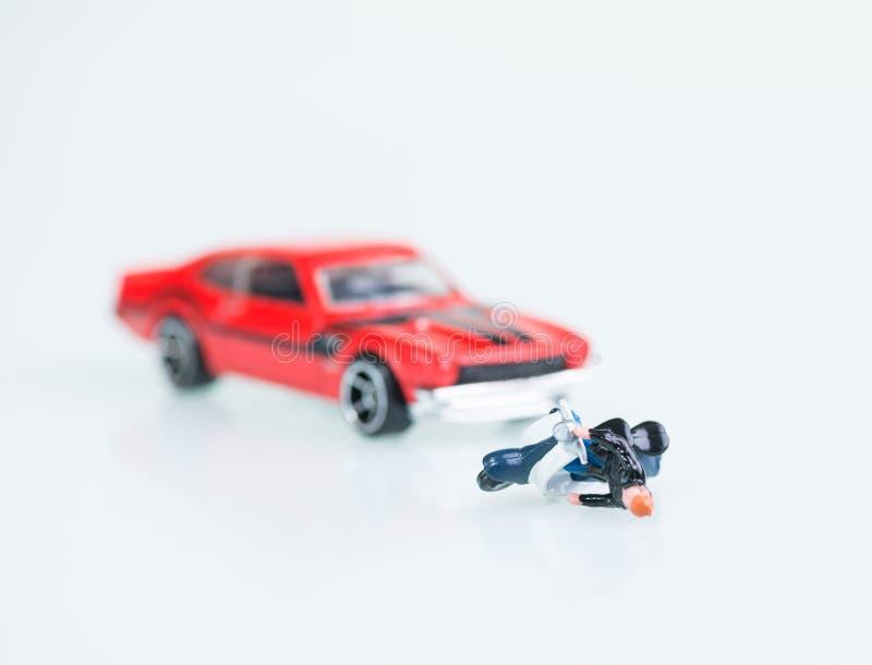 Motor vehicle collision accident stock photo