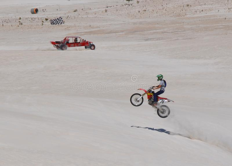 Motor Vehicle Dune Recreation: Lancelin, Western Australia stock photos
