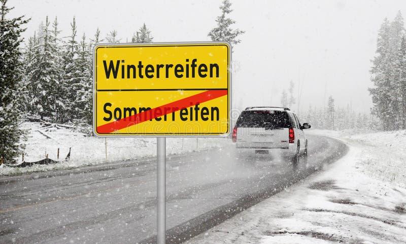 Motor Vehicle, Road, Snow, Winter stock photos