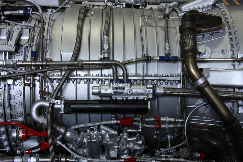 Motor velho do avião imagem de stock royalty free