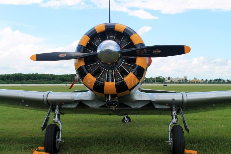 Motor viejo del avión de combate fotografía de archivo libre de regalías