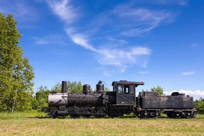 Motor viejo del tren del vapor con el espacio de la copia fotos de archivo libres de regalías