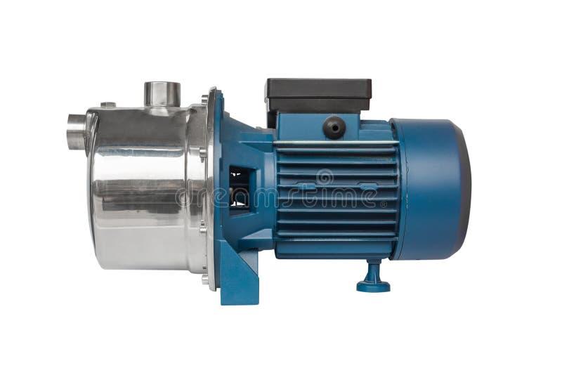 Motor voor de waterpomp die op een witte achtergrond wordt geïsoleerd stock foto