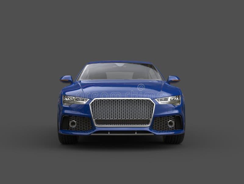 Motor- Vorderansicht des glänzenden Geschäfts des Ozeanblaus modernen stock abbildung