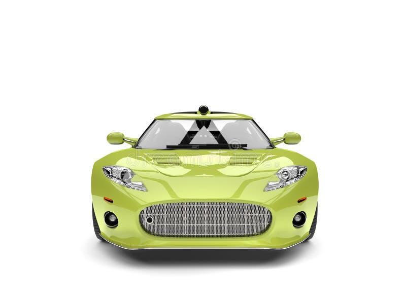 Motor- Vorderansicht des Leuchtstoff grünen modernen Supersports stock abbildung