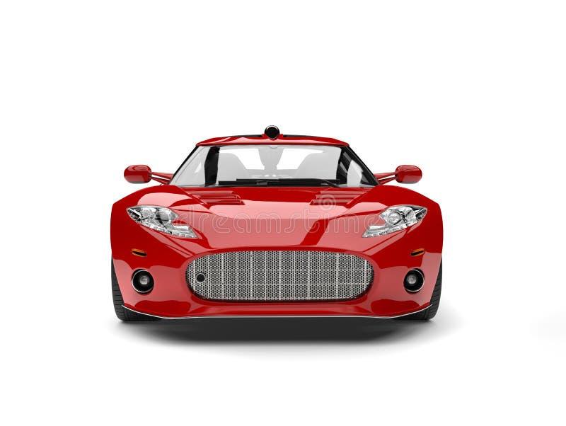 Motor- Vorderansicht des modernen roten Supersports stock abbildung