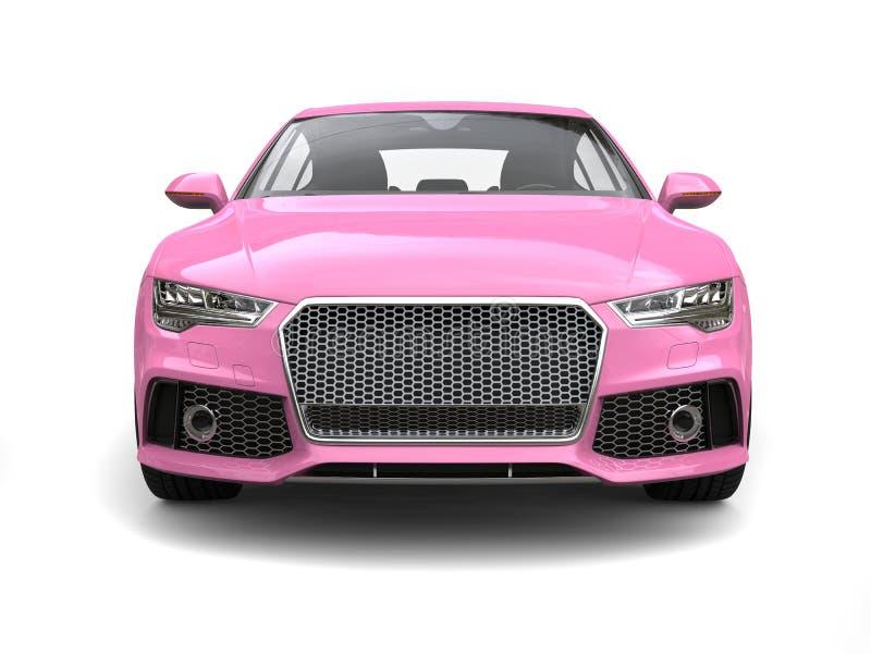 Motor- Vorderansicht des rosa modernen Geschäfts der Süßigkeit stock abbildung
