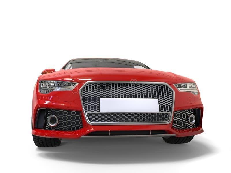 Motor- Vorderansicht-Nahaufnahmeschuß des warmen roten modernen Geschäfts stock abbildung