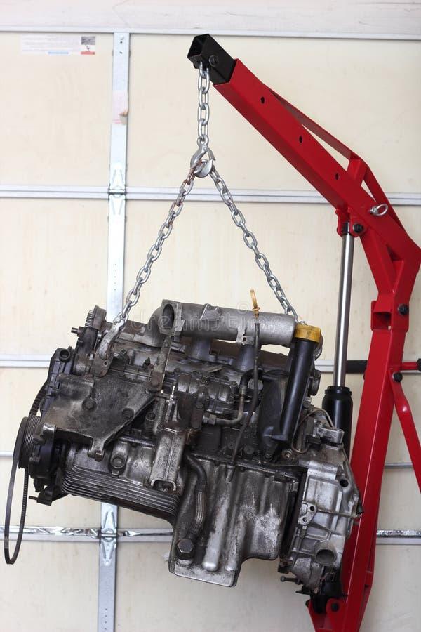 Motor in Winkel voor Verbouwing stock foto