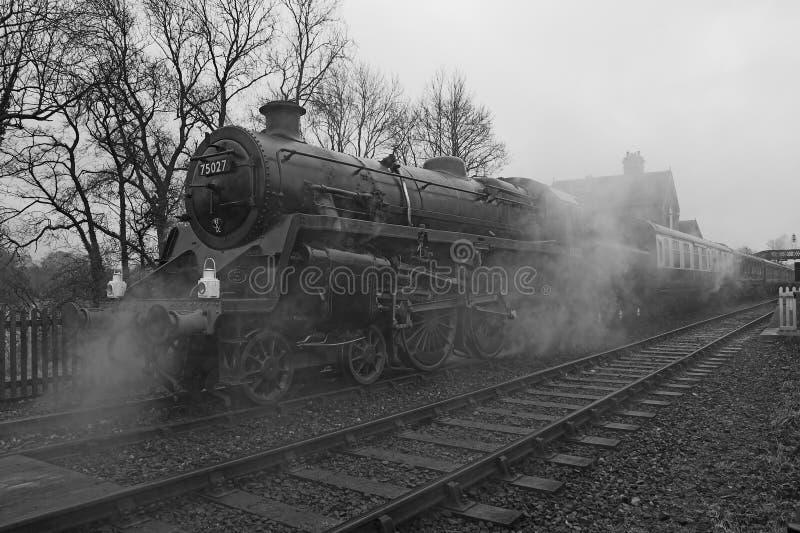 Motor y tren de vapor fotos de archivo