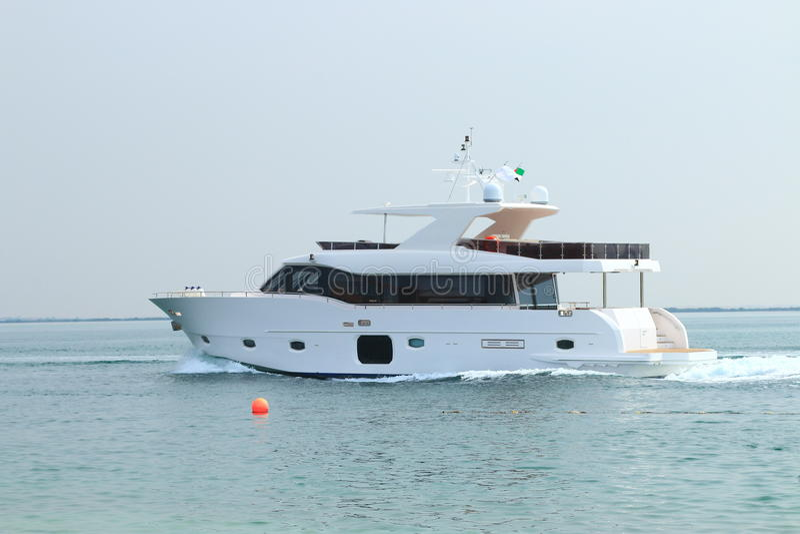 Motor yacht royalty free stock photography