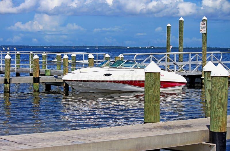Motora en Tampa Bay fotografía de archivo