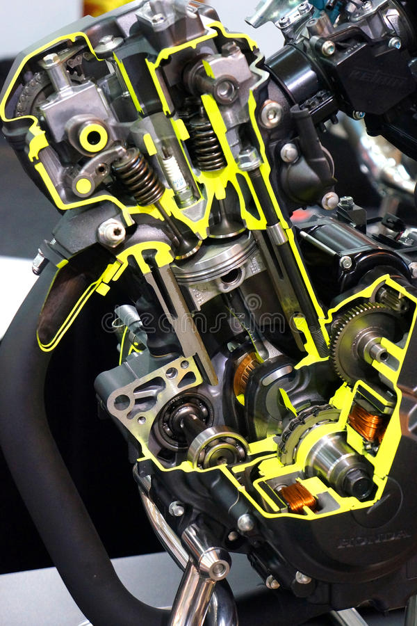 Motorausschnitt von Honda stockfotos